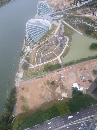 Marina Bay: The Flower Dome (Gardens by the Bay) works from above