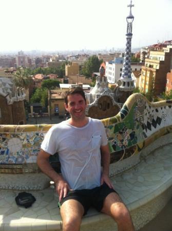 Running Tours Barcelona: half way into the run.