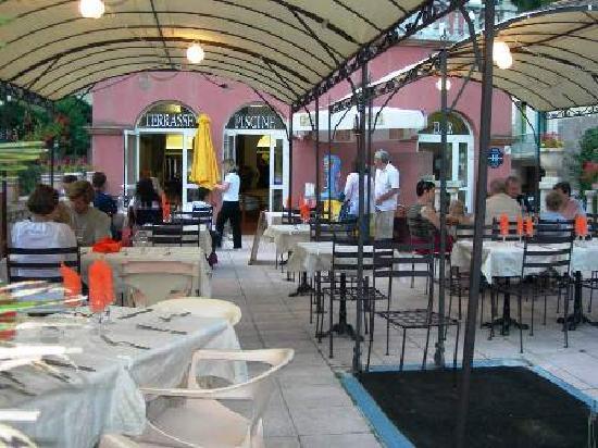 L'Hostellerie de Rennes-les-Bains: La terrasse