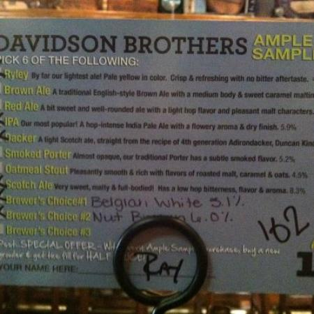 Davidson Brothers Brewing: My Selection
