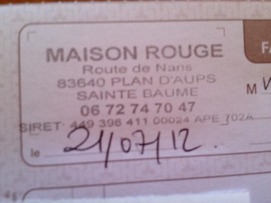 Maison Rouge: Address, for clarification