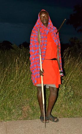 Mara West Camp: Security is a Masai Warrior