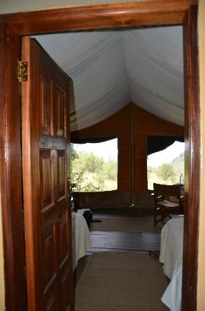 Mara West Camp: Looking from the bathroom