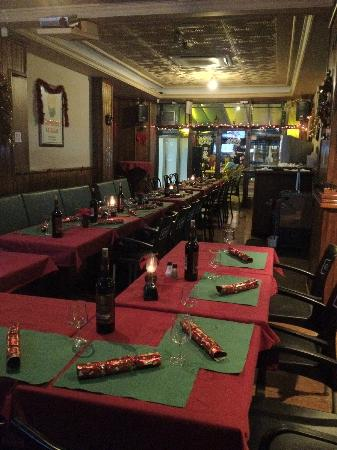 The Red Cow Restaurant & Sports Lounge: private function room for the holiday reps christmas dinner