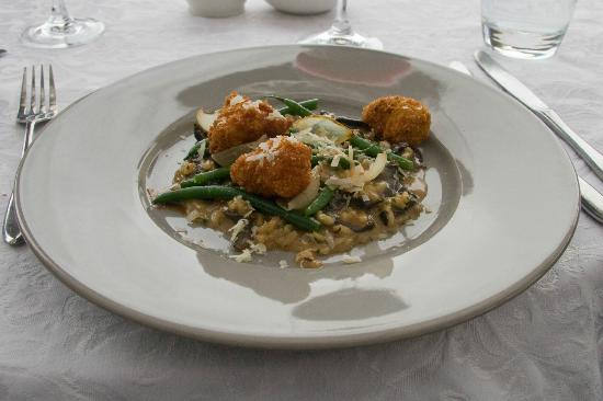 Overture at Hidden Valley: Crumbled Sweetbreads and Mushroom Risotto