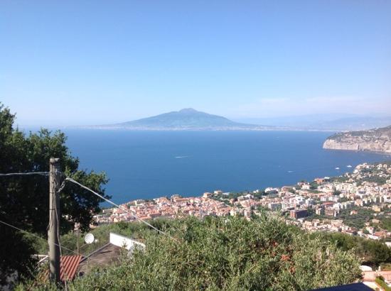 Hotel Villa Fiorita: vue de villa fiorita sur la baie et le vesuve