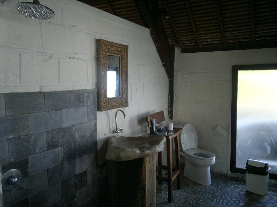 Bali Surf Villa: shower/toilet (superior double room) 
