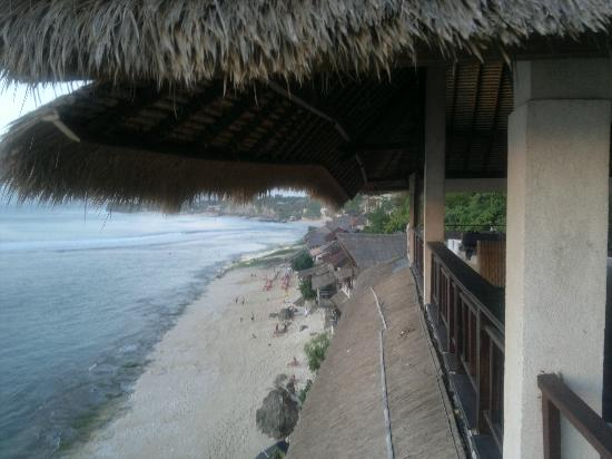 Bali Surf Villa: view from the balcony (superior double room)