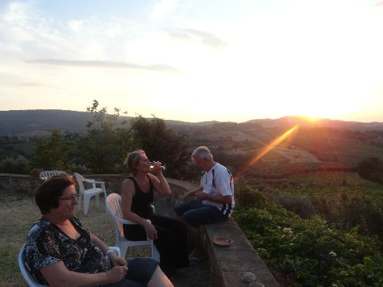 Agriturismo Santa Croce: Pôr-do-sol