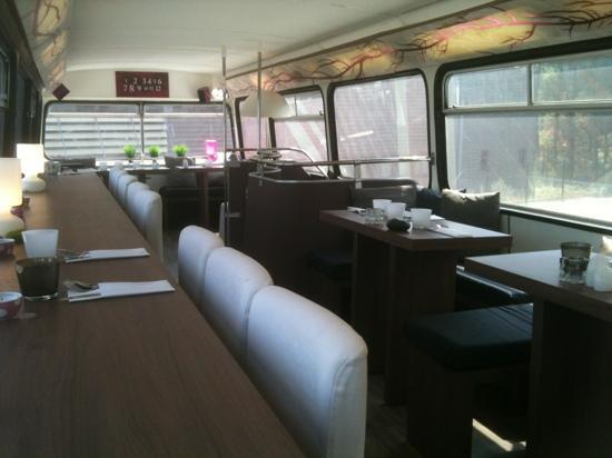 Wonderbus Cook'In: étage du bus