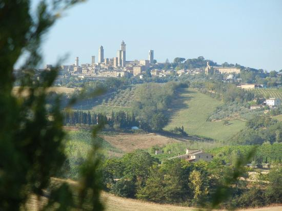 Tenuta Mormoraia: San Gimignano in the distance