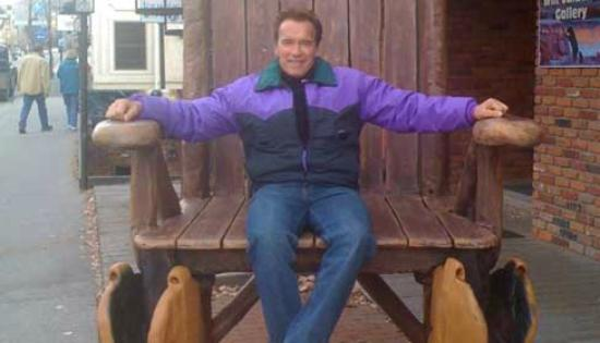 The Cellar Pub: Arnold in the BIG Chair