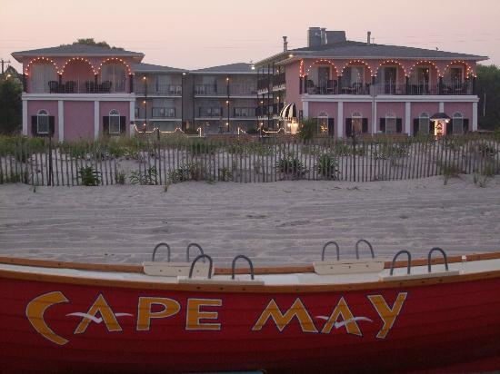 Periwinkle Inn from the Cape May Beach