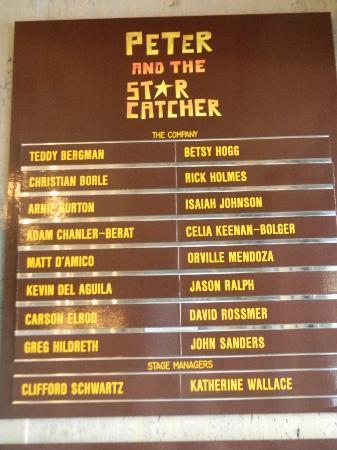 Peter and the Starcatcher: Original Cast List