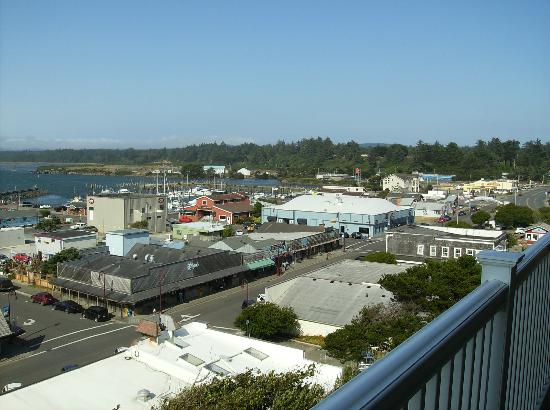 Bandon Inn: Looking at Old Town from balcony
