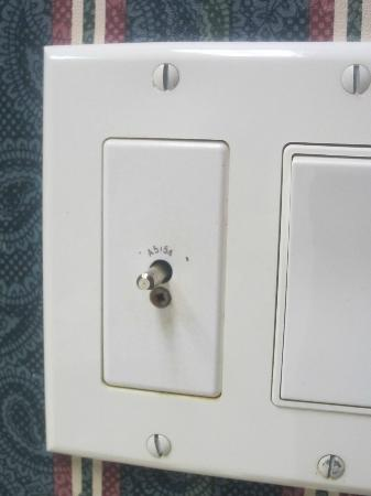 The ConCorde Inn : Broken Light Switch for Sun Lamp
