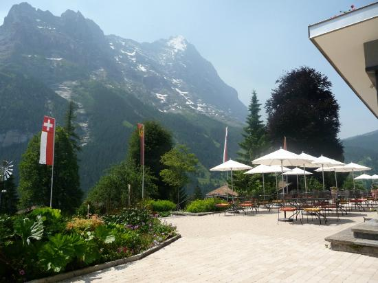 Parkhotel Schoenegg: View of the Eiger from the patio