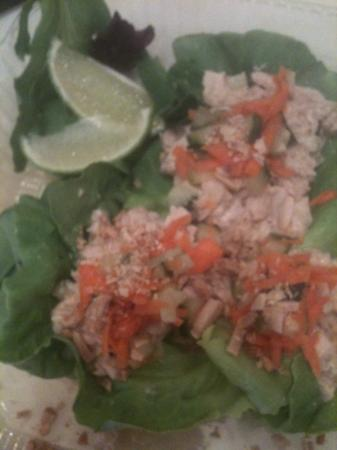 Ally's Eatery: Thai Chicken Lettuce Wraps to go. In Rockport, are you serious?