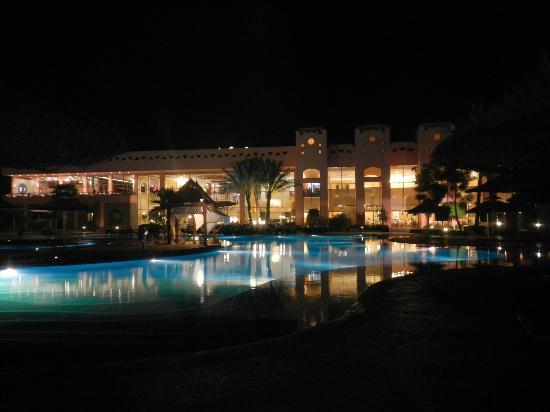 main pool by night