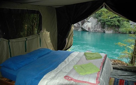 Futaleufu River Bio Bio Expeditions Camp: Your 'room'