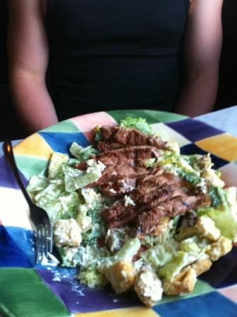 Canoe Place Inn : Lots of dressing on this cesaer salad!