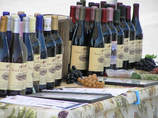The Convent: Angels Nest Bed & Breakfast : Thousand Islands wines at local farmers' market