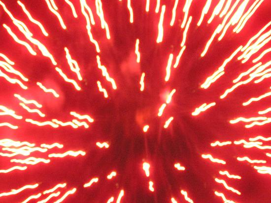 The Convent: Angels Nest Bed & Breakfast: Crazy fireworks picture; from Canalfest at Bellamy Park