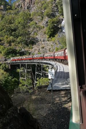 Down Under Tours - Day Tours: looking back from our Gold Class carriage