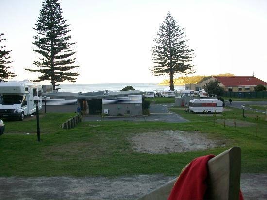 Mount Maunganui Beachside Holiday Park : View from our cabin