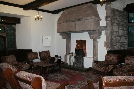St Briavels Castle: The community room with books and games