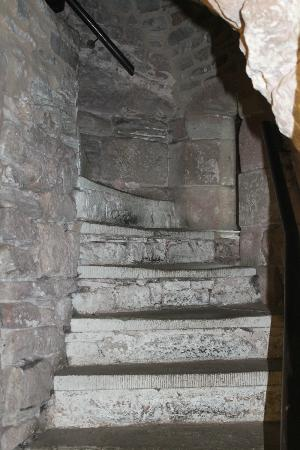 St Briavels Castle: The narrow stairs to the girls dorm