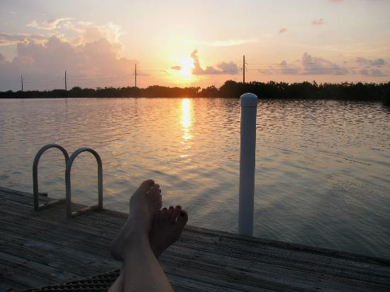 Little Conch Key: Sunset from dock