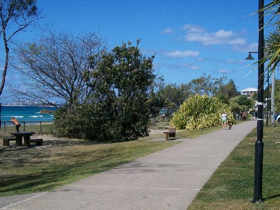 The Rocks Resort: walking path across from Resort