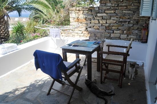 Naxos Hotel Kavos: The veranda of the suite