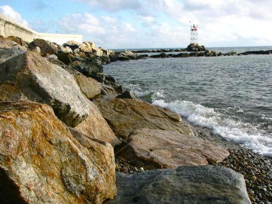 Oak Bluffs Town Beach: Oak Bluffs beach north of the ferry docks.