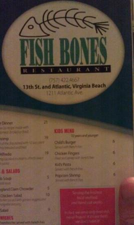 Fish Bones Restaurant and Seafood Buffet: watch out for waitresses who don't know the age limit for the kids menu. we were told 10.
