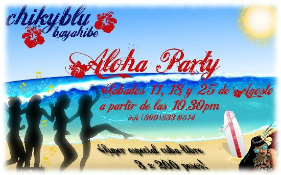 Chikyblu: aloha party