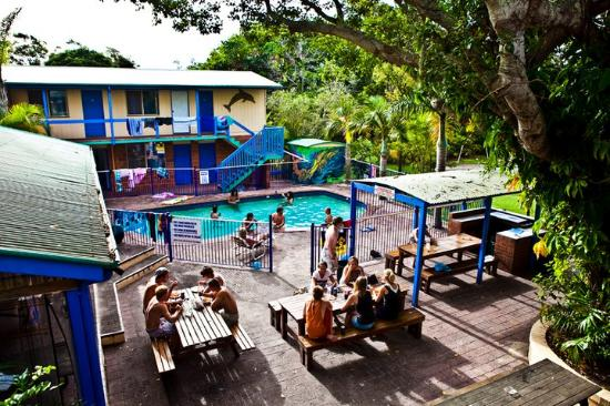 Backpackers Inn on the Beach at Byron Bay: Tropical grounds