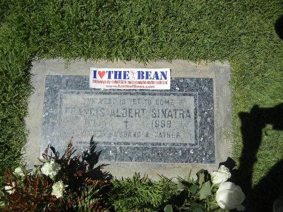 "Sanibel Bean : Francis Albert Sinatra's grave. Epitaph"" ""The Best is Yet to Come."""