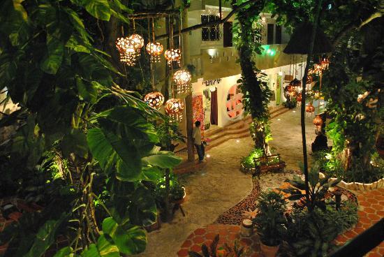 El Secreto Hotel by Bunik: Jardin desde el 2do piso