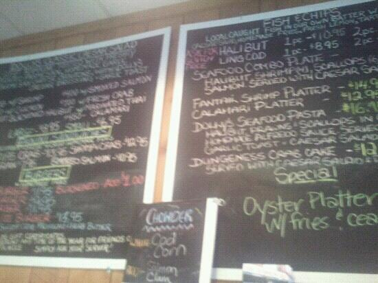 Dolly's Fish Market: Part of the great menu