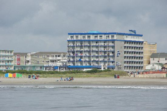 Wildwood Crest, NJ: The Adventurer Inn as seen from the ocean