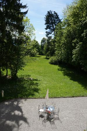 Villa Trapp: View of the grounds from the Maria suite.