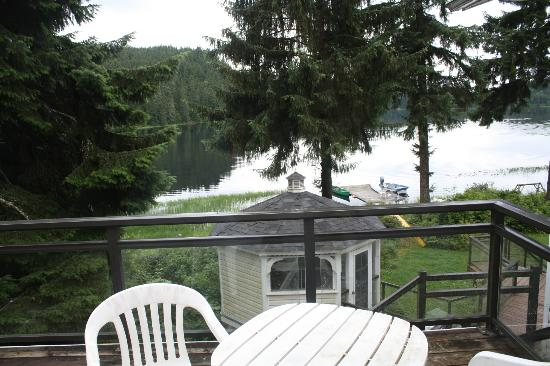 Auke Lake Bed & Breakfast: View from the area of our room