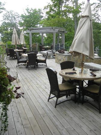 LochenHeath Golf Club: back patio from clubhouse