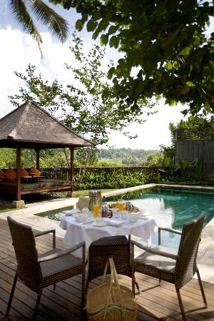 The Samaya Bali Ubud: Breakfast set at Hill Side Villa