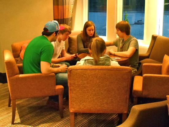Cruachan Hotel: Our children enjoying a card game!