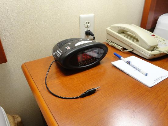Best Western Plus Vancouver Mall Drive Hotel and Suites: You can plug in your ipod!