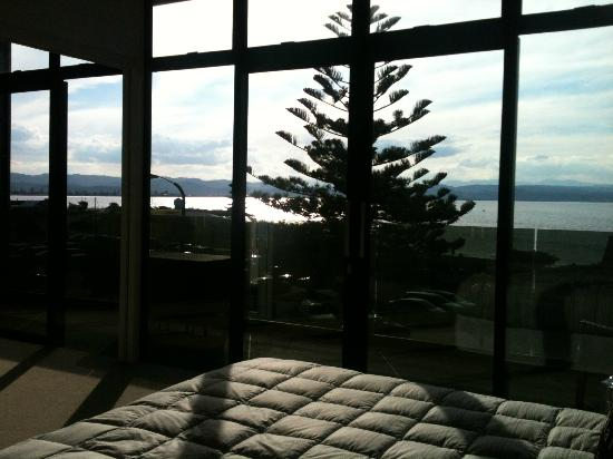 Navigate Seaside Hotel & Apartments: view from bed