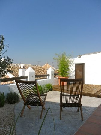 Archidona, Spanje: Patio by the pool